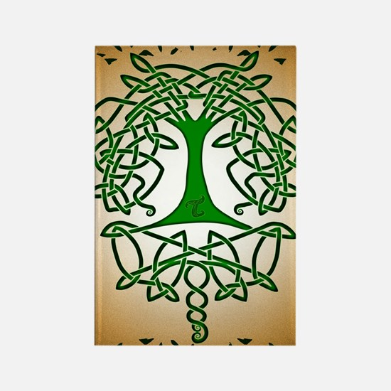 Celtic Tree of Life Rectangle Magnet