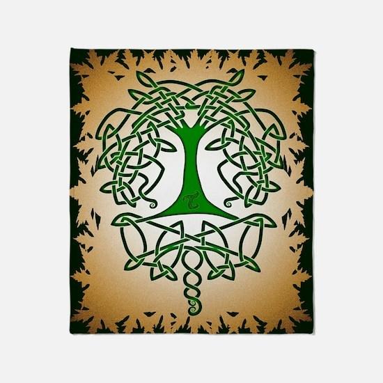Celtic Tree of Life Throw Blanket