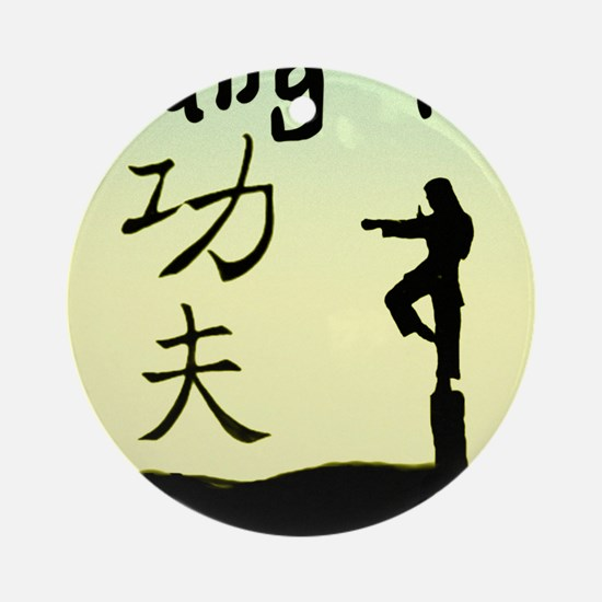 Kung fu Round Ornament