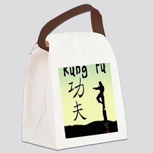 Kung fu Canvas Lunch Bag