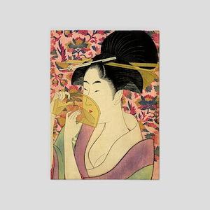 Japanese Woman 5'x7'Area Rug