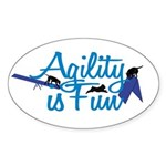 Agility is Fun Oval Sticker