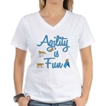 Agility is Fun Women's V-Neck T-Shirt