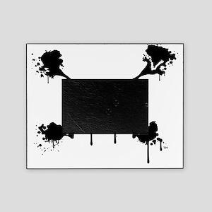 Logo 9x9, black transparent Picture Frame