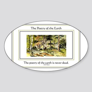 Poetry of the Earth Sticker (Oval)
