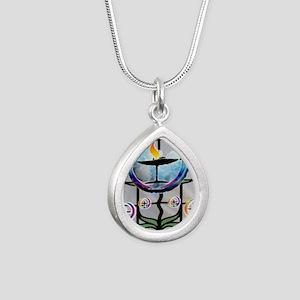 Unitarian 3 Silver Teardrop Necklace