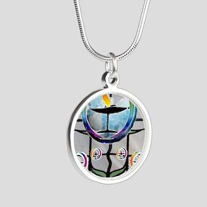 Unitarian 3 Silver Round Necklace