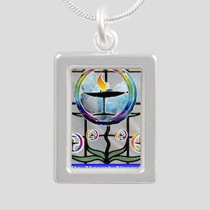 Unitarian 3 Silver Portrait Necklace