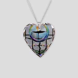 Unitarian 3 Necklace Heart Charm