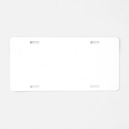Archer for dark Aluminum License Plate