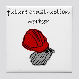 future construction worker Tile Coaster