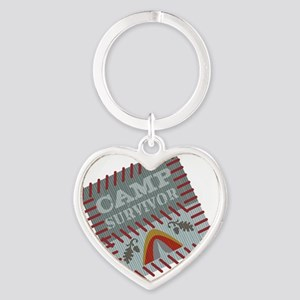 Camp Survivor Heart Keychain