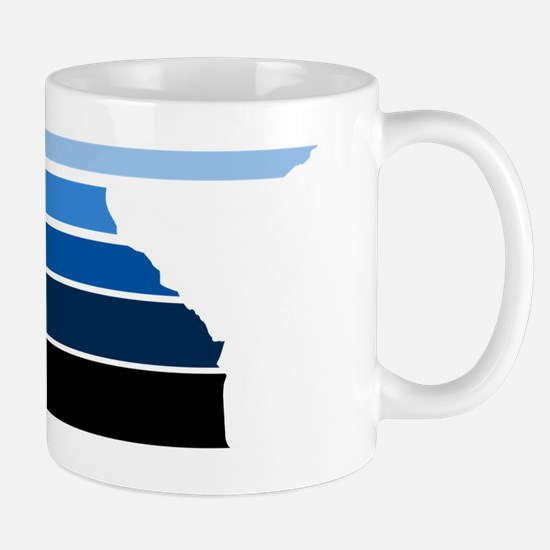 Break lines blu/wht Mug