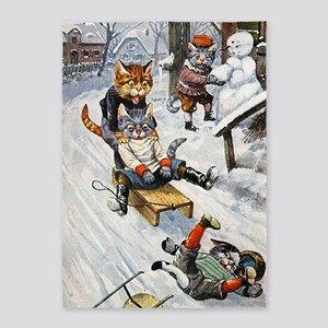 Thiele Cats Sled 5 5'x7'Area Rug