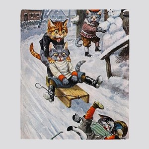 Thiele Cats Sled 5 Throw Blanket