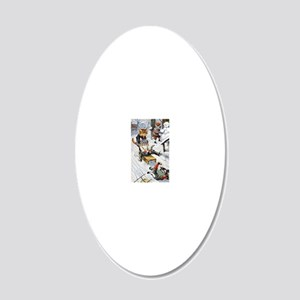 Thiele Cats Sled 5 20x12 Oval Wall Decal