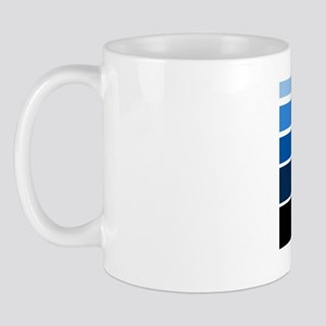 Break lines blu blk Mug