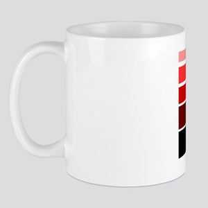 Break lines red/white Mug