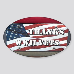 WWII License Plate Sticker (Oval)