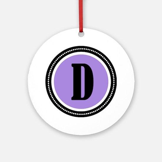 purpleD Round Ornament
