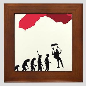 Evolution fallschirm B Framed Tile