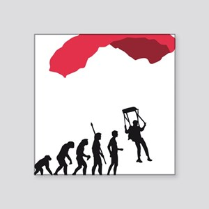 "Evolution fallschirm B Square Sticker 3"" x 3"""
