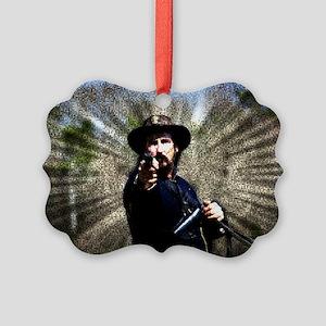 Civil War Sunburst Picture Ornament