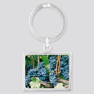 Wine Country Grapes Landscape Keychain