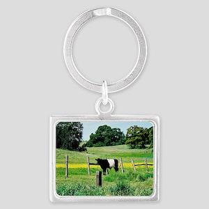Oreo Cow Landscape Keychain