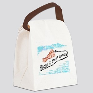 distressed Bacon is Meat Candy2 Canvas Lunch Bag