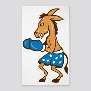Donkey Jackass Boxing Stance 3'x5' Area Rug
