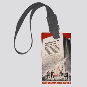 Books are Weapons Large Luggage Tag