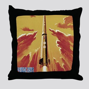 Mighty Leader Pierces Sky Throw Pillow