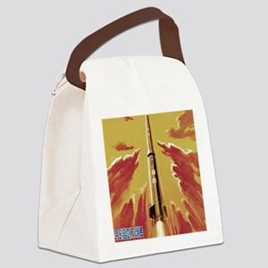 Mighty Leader Pierces Sky Canvas Lunch Bag