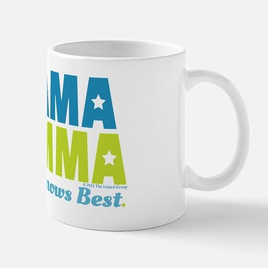 Obama Mamma - Teal/Lime Mug