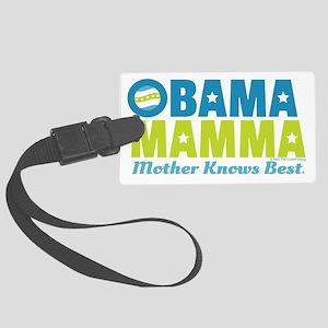 Obama Mamma - Teal/Lime Large Luggage Tag
