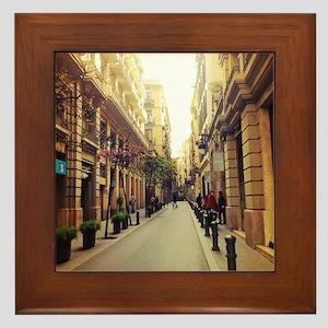 Streets of Spain Framed Tile