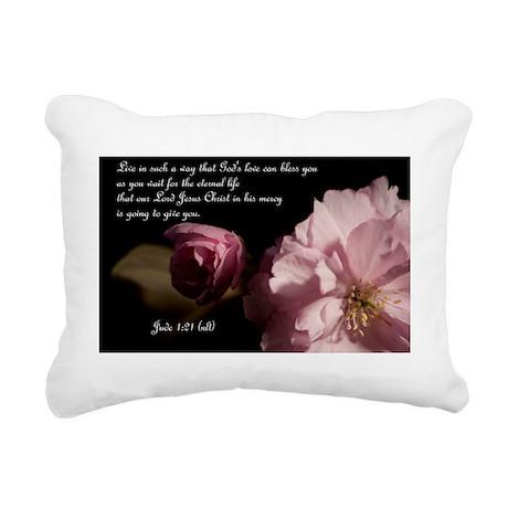 Jude 1:21 Rectangular Canvas Pillow