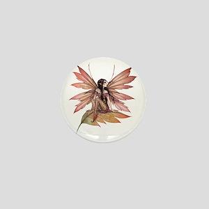 autumn drifting transparent Mini Button