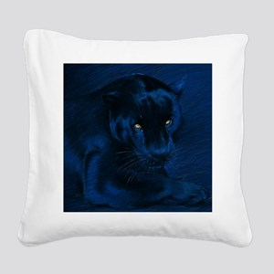 yellow eyes Square Canvas Pillow