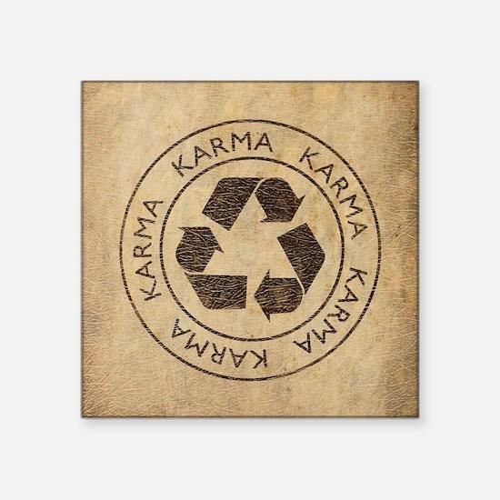"Vintage Karma Square Sticker 3"" x 3"""