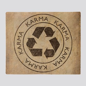 Vintage Karma Throw Blanket