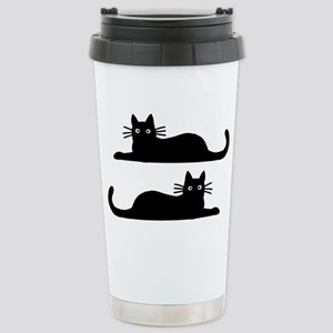 catsrectanglesticker Stainless Steel Travel Mug