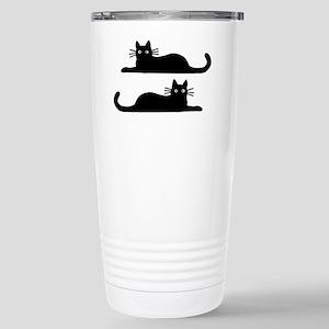 catsrectanglesticker Stainless Steel Travel Mug