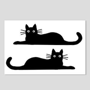 catsrectanglesticker Postcards (Package of 8)