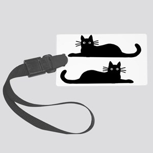 catsrectanglesticker Large Luggage Tag
