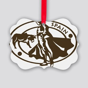 Spain Bullfighting Picture Ornament