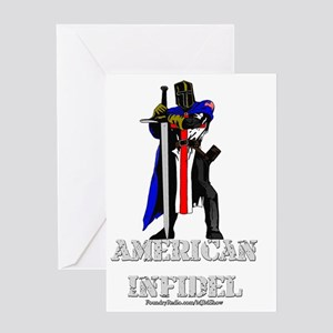American Infidel Greeting Card
