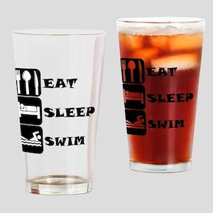 Eat Sleep Swim Drinking Glass