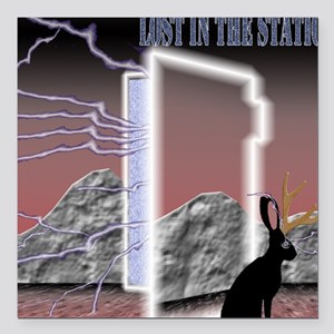 "Lost In The Static II Square Car Magnet 3"" x 3"""